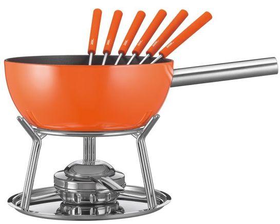 k se fondue set spring alu induktion orange ebay. Black Bedroom Furniture Sets. Home Design Ideas