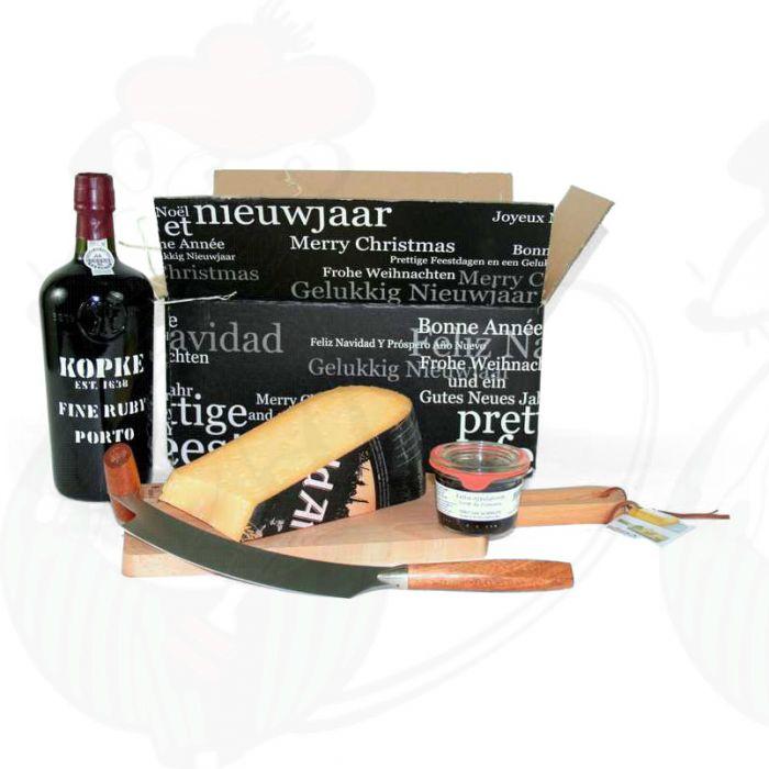 Port Geschenk mit extra Qualität Old Amsterdam Käse | Online Kaufe
