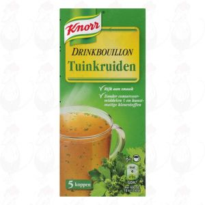 Knorr Soep Drinkbouillon Tuinkruiden 5 Stuks