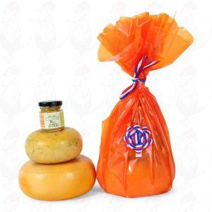 Bauernkäse und Senf Geschenk - Orange