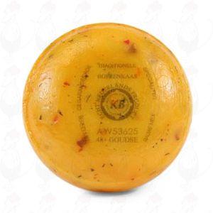 Gouda Bauernkäse Tomaten Oliven, 1 Pfund  | 400 Gramm | Premium Qualität