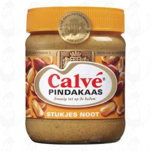 Calvé Pindakaas met stukjes noot | 350 gram