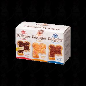 8 minis De Ruijter Schokolade Flocken, Schokoladenflocken pure, Frucht Hagel, Schokostreusel und Schokolade hage reine Schlaganfall.