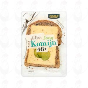 Schnittkäse Gouda 48+ Jung Kümmel| 190 gram in Scheiben