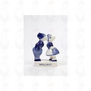 Delfter Blau Bauer und Bäuerin - Küssen Paar