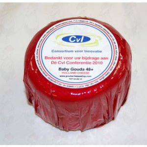 Ihr eigenes Logo/Bild auf einem Käse