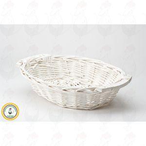 Käse Basket White 38x28x8