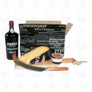 Port Geschenk mit extra Qualität Altes holländisches Käse