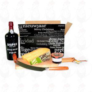 Port Geschenk mit extra Qualität Alter Rotterdam Käse