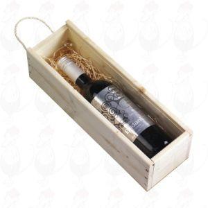 Red Cape mit 'Bedankt' label 1-Fach-Box mit Schiebedeckel und gedruckt schleife