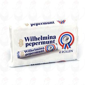 4 Rollen Wilhelmina Pfefferminz aus Holland