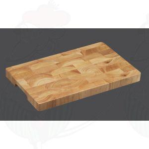 Hackklotz 35 x 23 x 3 cm , Gummibaumholz