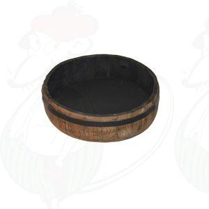 Authentieke houten bak rond - 30x8,5cm
