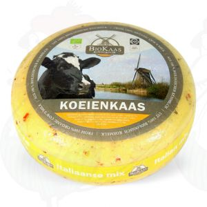 Bio Kräuterkäse mit Kräutern der Provence | Ganzer Käse 5,4 Kilo | Premium Qualität