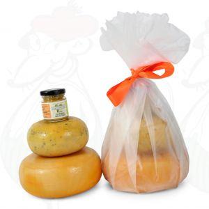 Bauernkäse und Senf Geschenk - Weiß