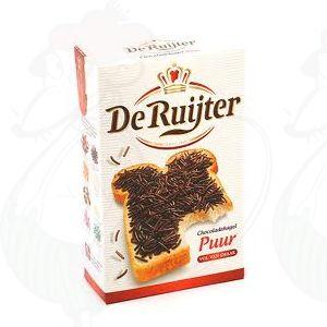 De Ruijter Schokoladenstreusel Bitter - Chocoladehagel Puur - 380 g