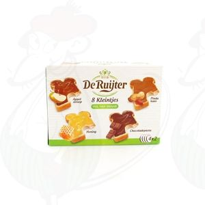 De Ruijter 8 kleintjes mit Apfel, Honig, Erdnussbutter und Nutella