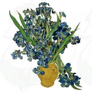 Van Gogh Schwertlilien Fensteraufkleber - Flat Flower - 30 x 37 cm