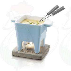 Boska Schokoladenfondue Set - Käsefondue Set Tapas Blau - 200 Gramm