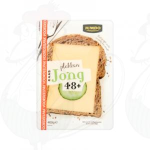 Schnittkäse Gouda 48+ Jung | 400 gram in Scheiben