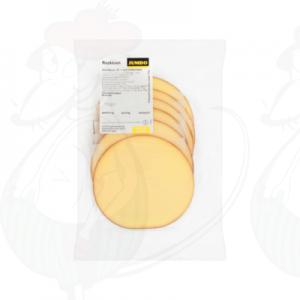 Schnittkäse geräucherter Käse 45+ | 120 gram in Scheiben