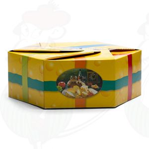 Festliche Geschenkverpackung für Käse