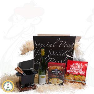 Bunt gemischtes Tapas Fondue Geschenkpaket - Black