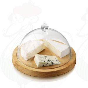 Käseglocke mit Kunstoff deckel, Eichtenholz Ø 23 cm