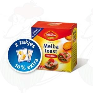 Melba Toast Naturell Rondjes - Van der Meulen - 110 gram