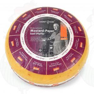 Senf und pfeffer Gouda Biodynamische Käse - Demeter | Ganzer Käse 5 Kilo