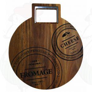Runde Käsebrett mit Käsemesser Ø 40 cm