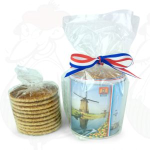 10 Goudawaffeln in Farbige niederländische Keksdose | Premium Qualität