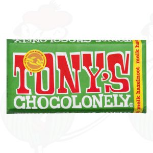 Tony's Chocolonely Melk - hazelnoot - 180gr.